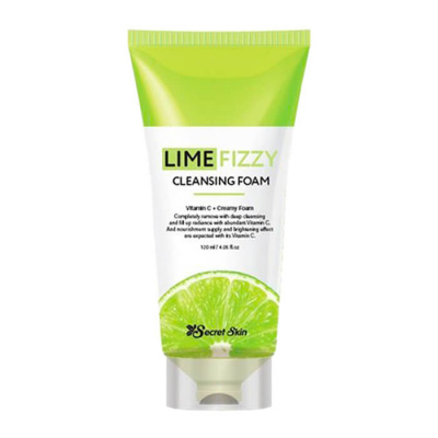 Очищающая пенка с экстрактом лайма Secret Skin Lime Fizzy Cleansing Foam